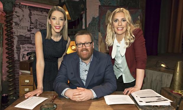 Sara Pascoe and Katherine Ryan with Frankie Boyle